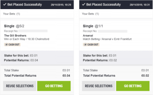 1p Minimum Bets on Horse Racing and Football