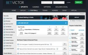 Betvictor sports betting screenshot