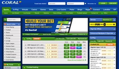 Coral Sports Betting Screenshot