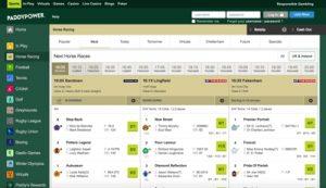 Paddy Power Sports Betting Screenshot