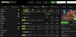 Betway Sports Betting Screenshot