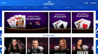 Jackpotjoy Casino Screenshot