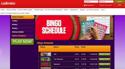Ladbrokes Bingo Screenshot