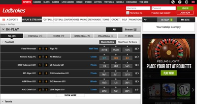 Ladbrokes Sports Betting Screenshot