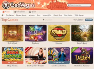 Leovegas Casino Games Screenshot