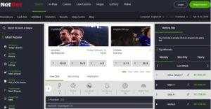Netbet Sports Betting Screenshot