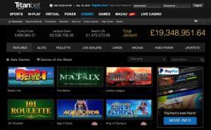 Titan Bet Casino Screenshot