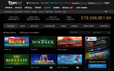 Titan Bet Casino Screenshot