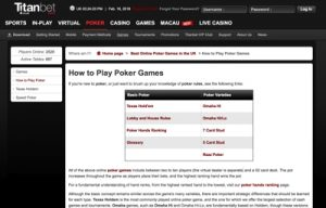 Titan Bet Poker Screenshot