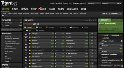 Titan Bet Sports Screenshot