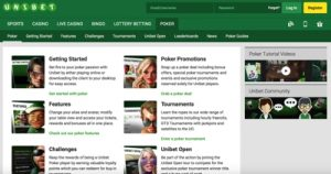 Unibet Poker Screenshot