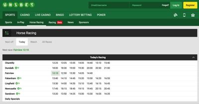 Unibet Sports Betting Screenshot
