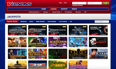 Vernons Casino Screenshot