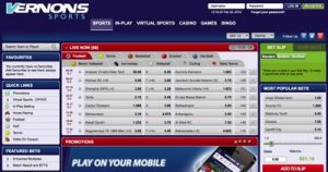 Vernons Sports Betting Screenshot