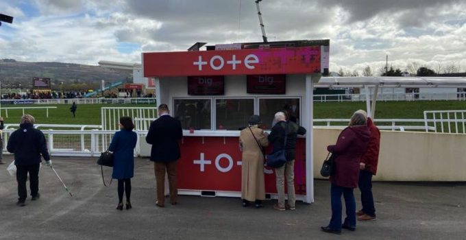 Tote betting stand at 2020 Cheltenham Festival