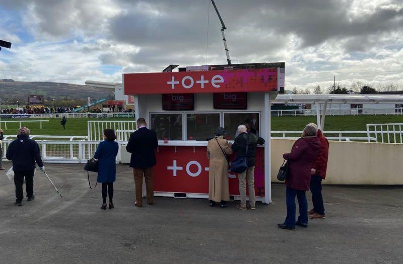 Tote betting stand at 2020 Cheltenham Festival